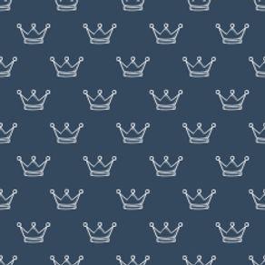 Papel de Parede Adesivo Infantil Azul Marinho do Príncipe IF12224