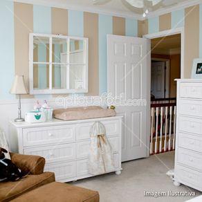 Papel de Parede Adesivo Infantil Azul Quarto de Bebê Chuvisco LT18094