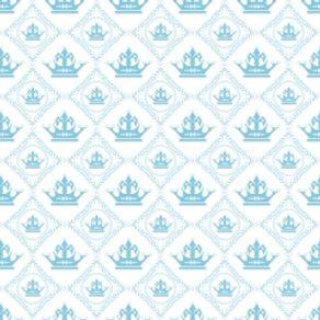 Papel de Parede Adesivo Infantil Azul Quarto de Bebê do Príncipe IF12230