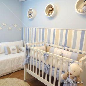 Papel de Parede Adesivo Infantil Azul Quarto de Menino Bernardo LT18090AM