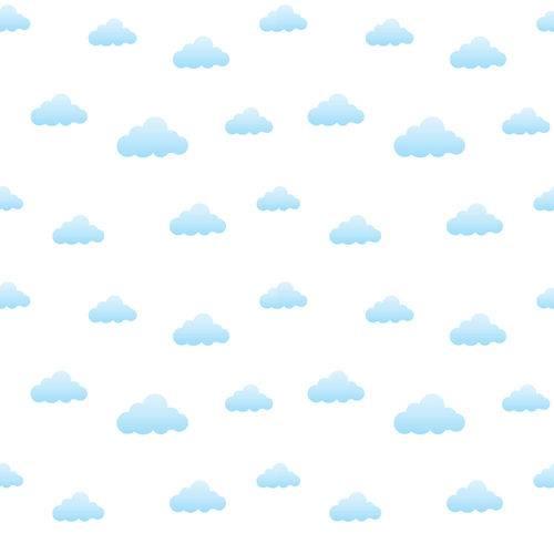 Papel de Parede Infantil Nuvens 2,70x0,57m