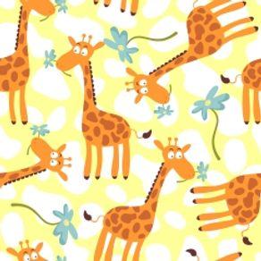 Papel de Parede Adesivo Infantil Quarto Girafinhas IF12028