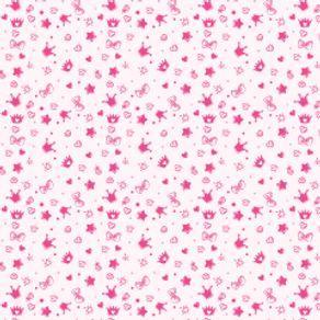 Papel de Parede Adesivo Infantil Rosa Quarto Coisinhas de Menina IF122397