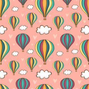 Papel de Parede Adesivo Infantil Rosa Quarto de Bebê Bamba Balão IF122354