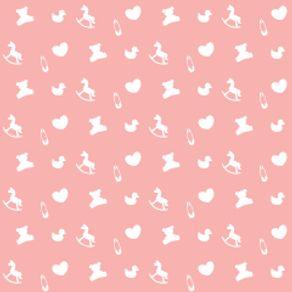 Papel de Parede Adesivo Infantil Rosa Quarto de Bebê Feminino Amoroso IF122386