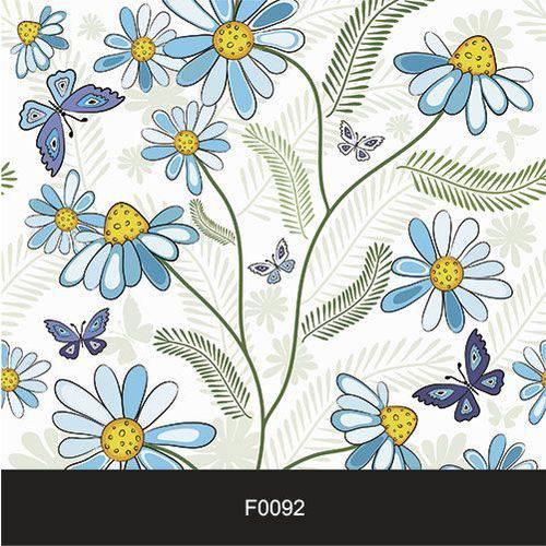 Papel de Parede Adesivo Lavável Floral Margarida Azul