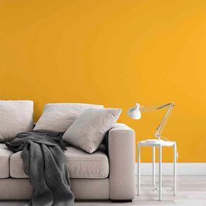 Papel de Parede Adesivo Liso Amarelo Gema Quarto Hall Bella LI19139