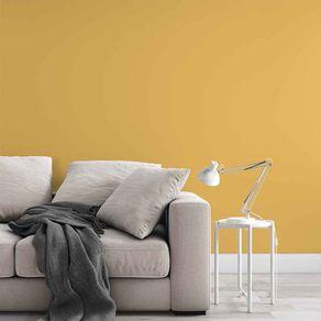 Papel de Parede Adesivo Liso Amarelo Intenso Hall Luz de Vela LI19084