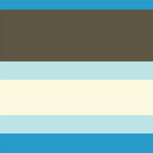 Papel de Parede Adesivo Listrado Azul, Marrom e Branco