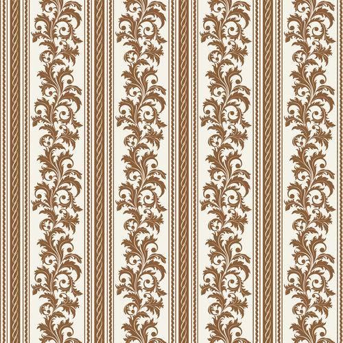 Papel de Parede Adesivo - Listrado Floral - N0904