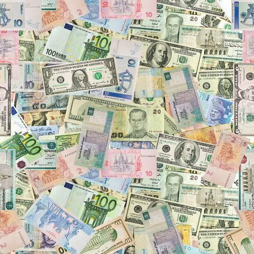 Papel de Parede Adesivo - Money - N0001