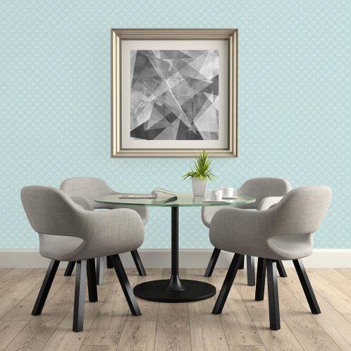 Papel de Parede Adesivo Rolo 0,58x3,00M Abstrato Geométrico Azul 892247509