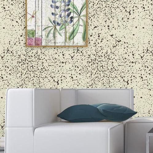 Papel de Parede Adesivo Rolo 0,58x3,00M Abstrato Pingos de Tinta 0283