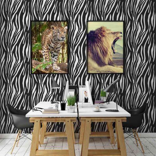 Papel de Parede Adesivo Rolo 0,58x3,00M Animal Print 711320554