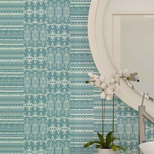 Papel de Parede Adesivo Rolo 0,58x3,00M Azulejo Abstrato 284802215
