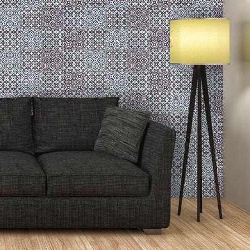 Papel de Parede Adesivo Rolo 0,58x3,00M Azulejo Abstrato 284805326