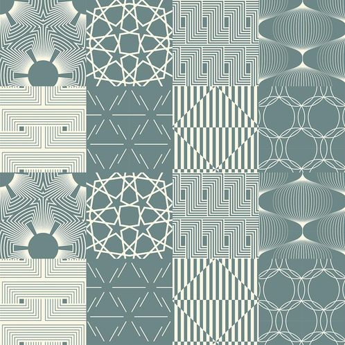 Papel de Parede Adesivo Rolo 0,58x3,00M Azulejo Abstrato 2888003