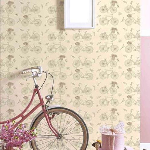 Papel de Parede Adesivo Rolo 0,58x3,00M Bicicleta Jovem Adolescente Teen 131550629