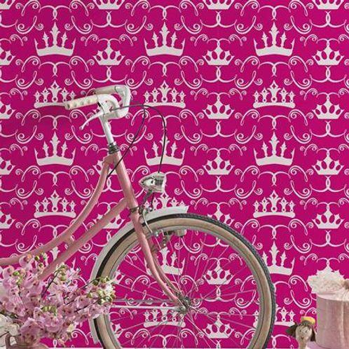 Papel de Parede Adesivo Rolo 0,58x3,00M Coroa Princesa Menina 683664594