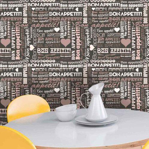 Papel de Parede Adesivo Rolo 0,58x3,00M Cozinha Frases 262690838