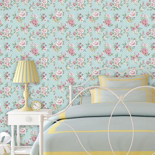 Papel de Parede Adesivo Rolo 0,58x3,00M Floral 2013