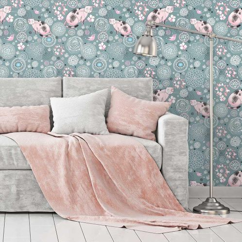 Papel de Parede Adesivo Rolo 0,58x3,00M Floral 1302