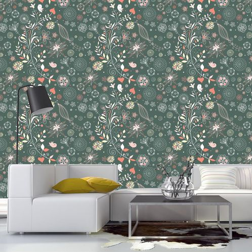 Papel de Parede Adesivo Rolo 0,58x3,00M Floral 1300