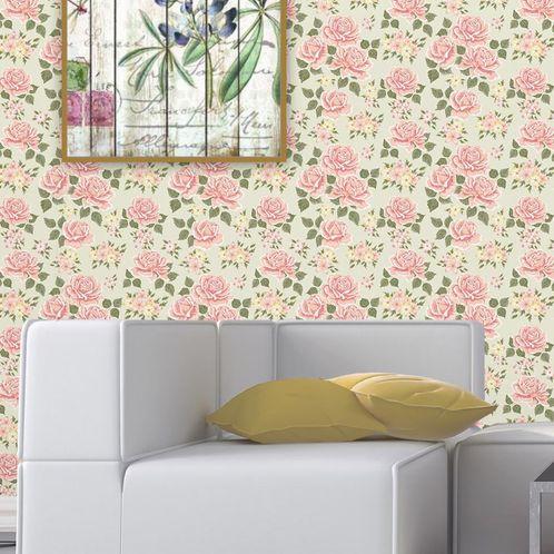 Papel de Parede Adesivo Rolo 0,58x3,00M Floral 102085426