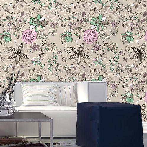 Papel de Parede Adesivo Rolo 0,58x3,00M Floral 210120