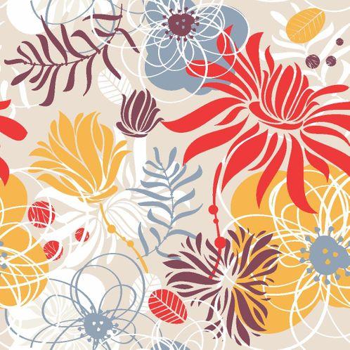 Papel de Parede Adesivo Rolo 0,58x3,00M Floral 210121