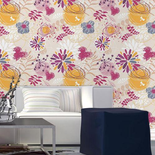 Papel de Parede Adesivo Rolo 0,58x3,00M Floral 210114