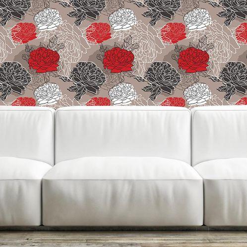 Papel de Parede Adesivo Rolo 0,58x3,00M Floral 210116