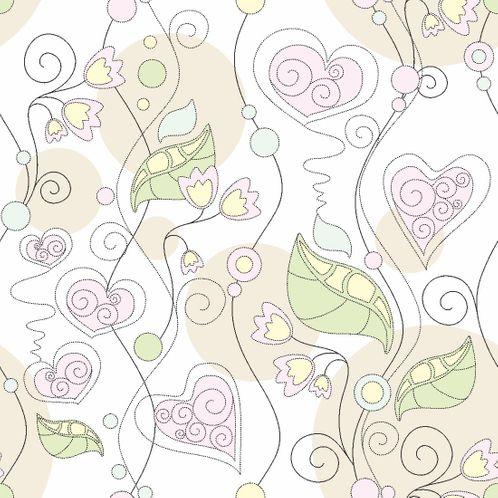Papel de Parede Adesivo Rolo 0,58x3,00M Floral 210131