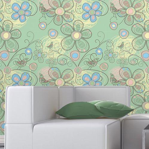 Papel de Parede Adesivo Rolo 0,58x3,00M Floral 210135