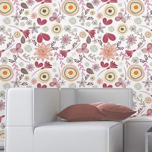 Papel de Parede Adesivo Rolo 0,58x3,00M Floral 210179