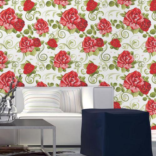 Papel de Parede Adesivo Rolo 0,58x3,00M Floral 210184