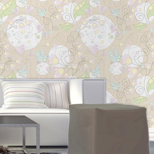 Papel de Parede Adesivo Rolo 0,58x3,00M Floral 210129