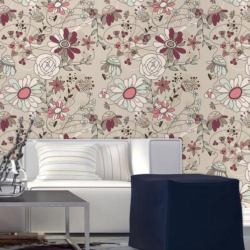 Papel de Parede Adesivo Rolo 0,58x3,00M Floral 210139