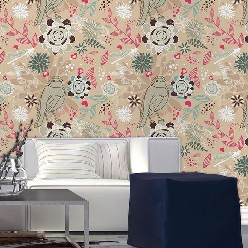 Papel de Parede Adesivo Rolo 0,58x3,00M Floral 210132