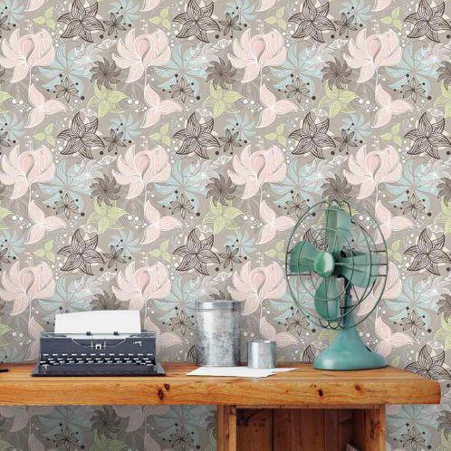 Papel de Parede Adesivo Rolo 0,58x3,00M Floral 210122