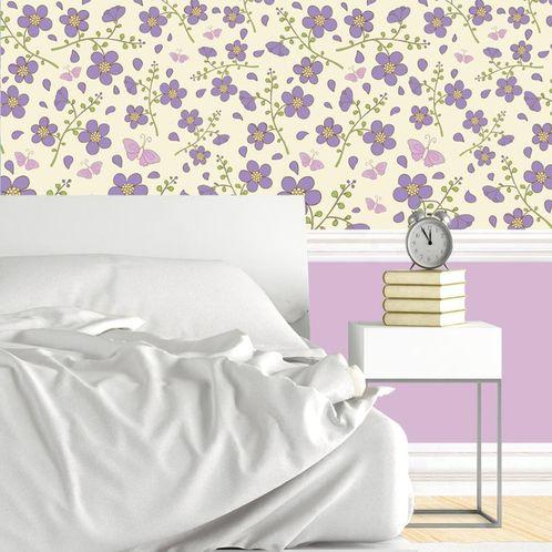Papel de Parede Adesivo Rolo 0,58x3,00M Floral 210417391