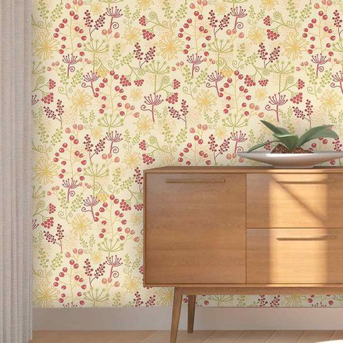 Papel de Parede Adesivo Rolo 0,58x3,00M Floral 120234430