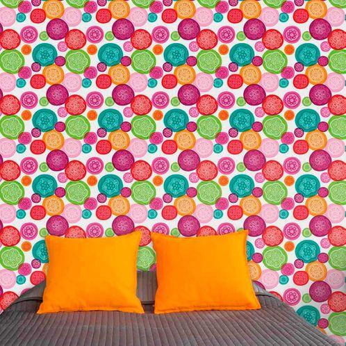 Papel de Parede Adesivo Rolo 0,58x3,00M Floral 107909999
