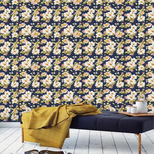 Papel de Parede Adesivo Rolo 0,58x3,00M Floral 108208349