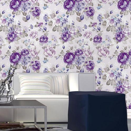 Papel de Parede Adesivo Rolo 0,58x3,00M Floral 109278941