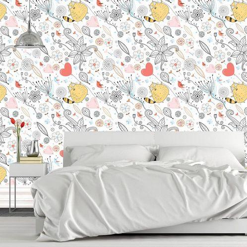 Papel de Parede Adesivo Rolo 0,58x3,00M Floral 1303