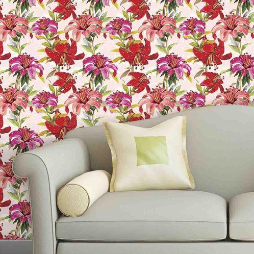 Papel de Parede Adesivo Rolo 0,58x3,00M Floral 10