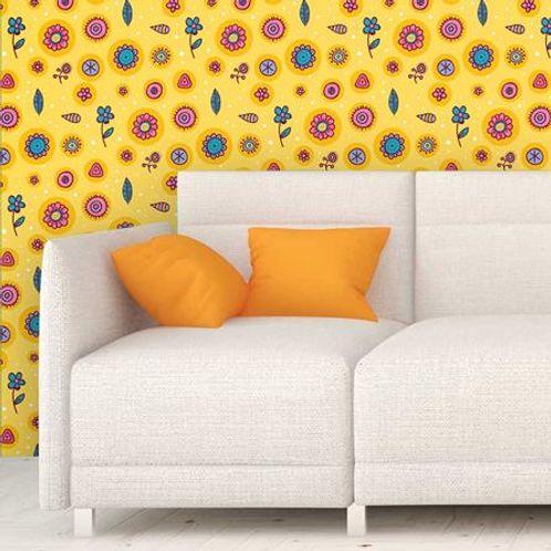 Papel de Parede Adesivo Rolo 0,58x3,00M Floral 1213