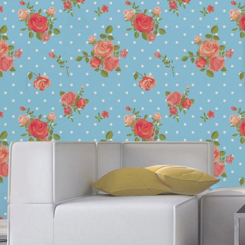 Papel de Parede Adesivo Rolo 0,58x3,00M Floral 131105234