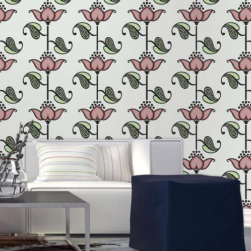Papel de Parede Adesivo Rolo 0,58x3,00M Floral 1140